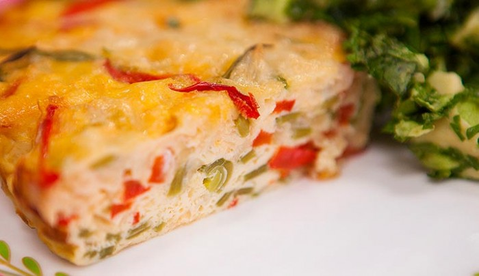 Capsicum, Leek and Snow Pea Frittata with Avocado Herb Mash | Good ...