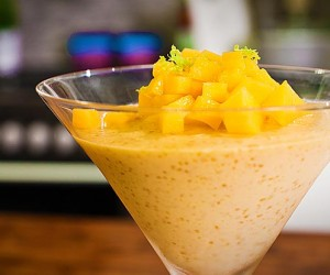 Coconut and Mango Puddings