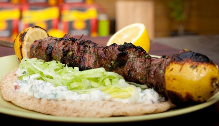 Greek BBQ Lamb Souvlaki | Good Chef Bad Chef
