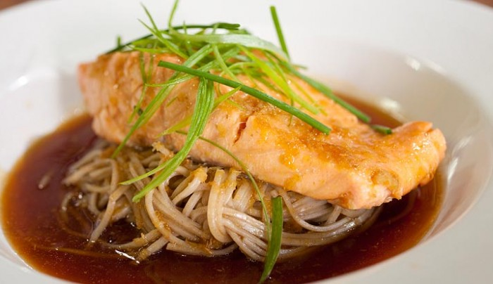 Honey Soy Salmon with Buckwheat Noodles
