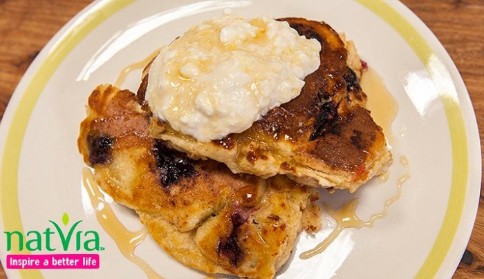 Buttermilk Blueberry and Blackberry Pancakes