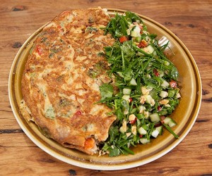 Thai Chicken Salad with Spring Onion Omelette