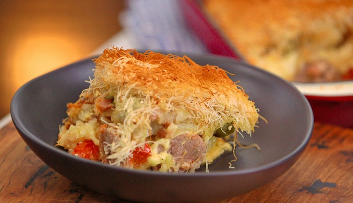 Sausage and Bacon Pie