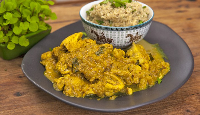Chicken tikka masala with coconut quinoa good chef bad chef chicken tikka masala with coconut quinoa forumfinder Image collections
