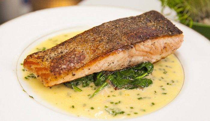 Grilled Salmon with Lemon Herb Butter Sauce | Good Chef Bad Chef