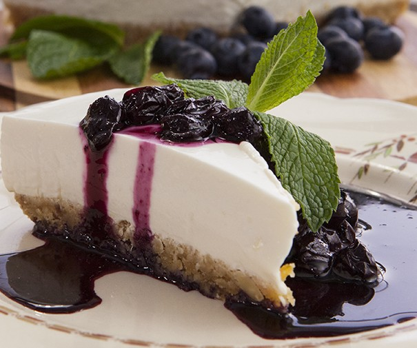 Blueberry Greek Yoghurt Cheese Cake