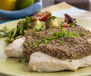 Roasted Turkey with Fig Stuffing and Quinoa Salad
