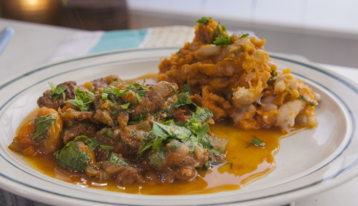 Braised Beef with Cannellini Bean and Sweet Potato Mash | Good Chef ...