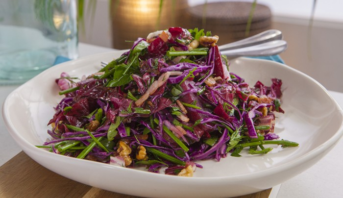 Beetroot, Bacon and Red Cabbage Salad