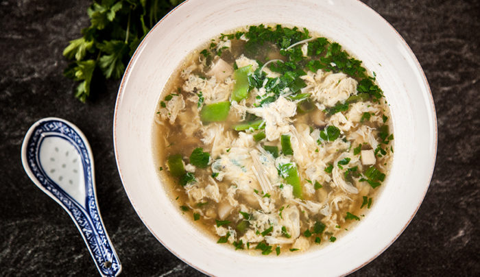 Egg Drop Soup with Chicken