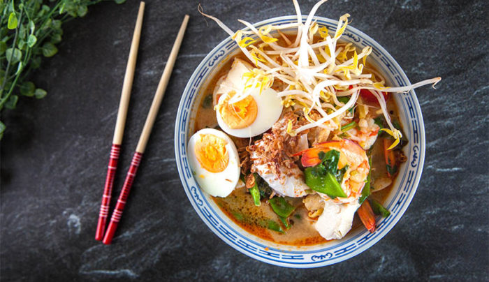 Malaysian Curry Laksa with Hokkien Noodles