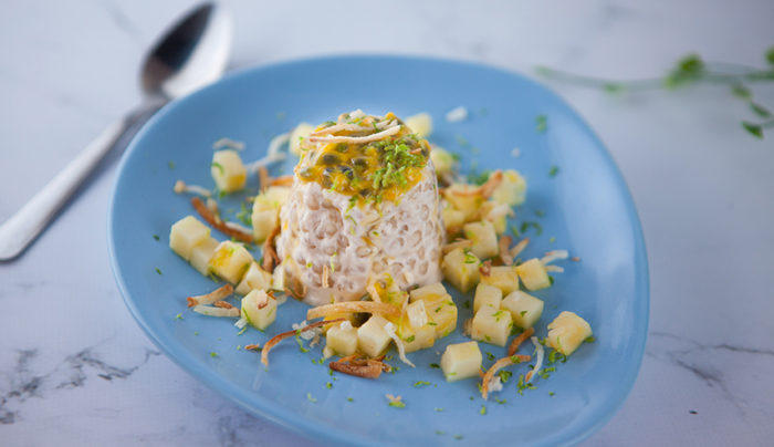 Coconut, Pineapple and Passionfruit Sago Pudding