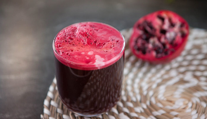 Beetroot, Carrot and Pomegranate Juice