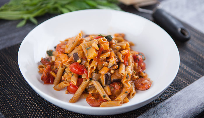 Chorizo & Eggplant with Pulse Pasta