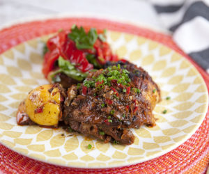 Portuguese Chicken with Red Capsicum Salad