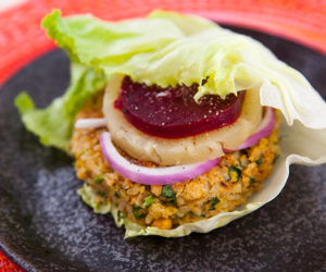 Brown Rice and Chickpea Burgers
