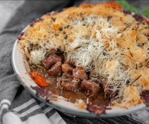 Steak and Mushroom Kataifi Pie