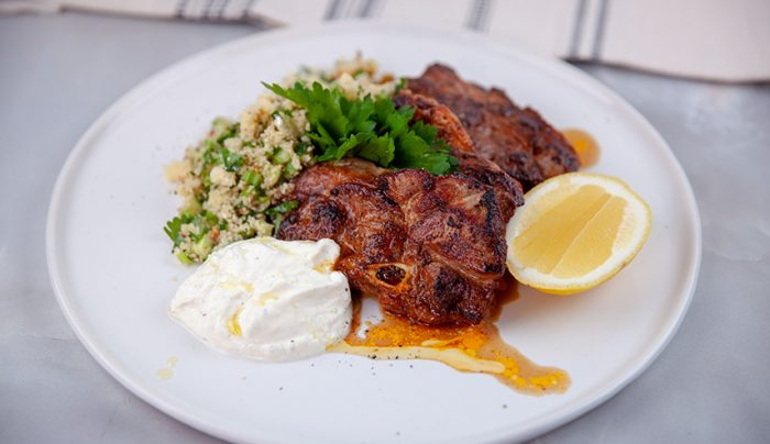 Mediterranean Spiced Lamb with Tabouli Cous Cous and Yoghurt