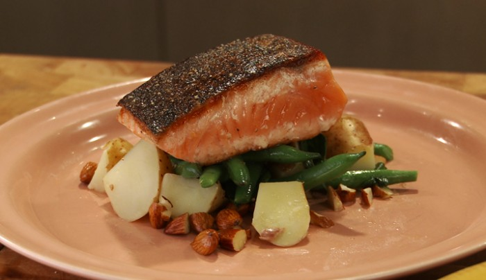 Pink Salmon with Kipfler Potatoes and Green Beans