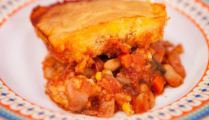 Bacon & Bean Cornbread Bake