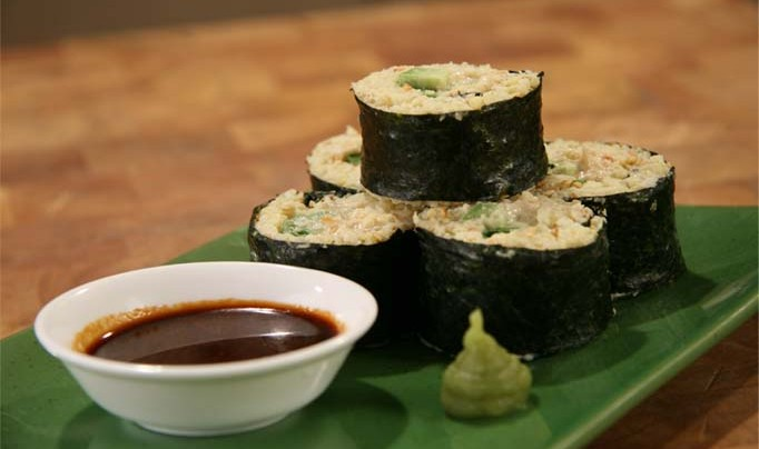 Nori Rolls with Millet and Avocado