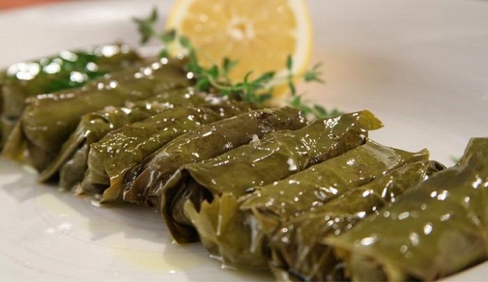Vine Leaves with Aromatic Kingfish and Quinoa