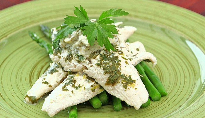 Poached Fish with Parsley Sauce Poached in Milk