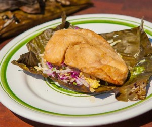 BBQ Five Spice Turkey Wrapped in Banana Leaves