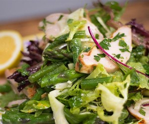 Fennel, Green Beans, Asparagus and Smoked Chicken Salad