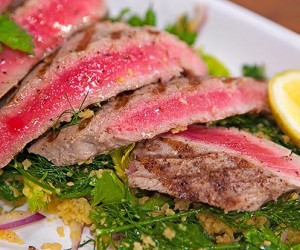 Grilled Tuna with Apple and Herb CousCous