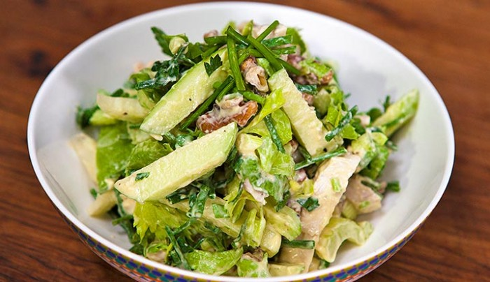 Poached Chicken Salad with Celery & Mustard Cream Sauce