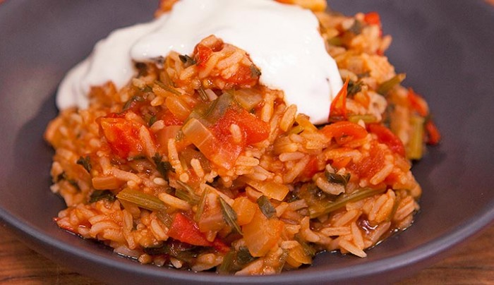 Simple Indian Tomato Rice