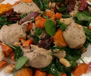 Roast Veggie Salad with Butter Beans