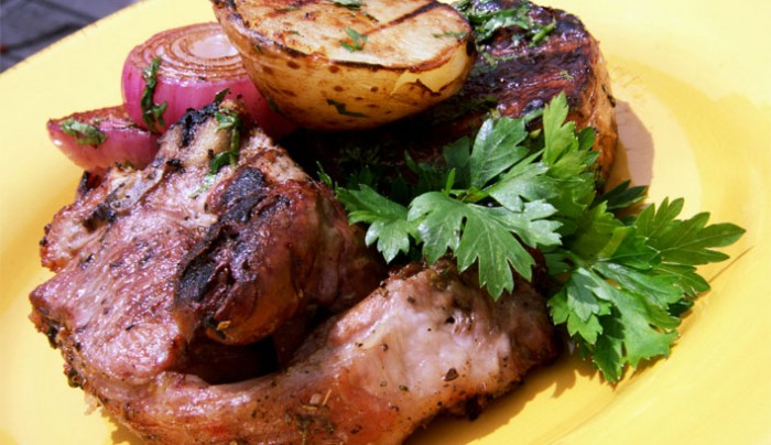 Double Lamb Chops with Kidney