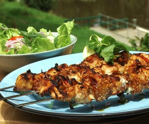 Chicken with Red Bean Paste Marinade