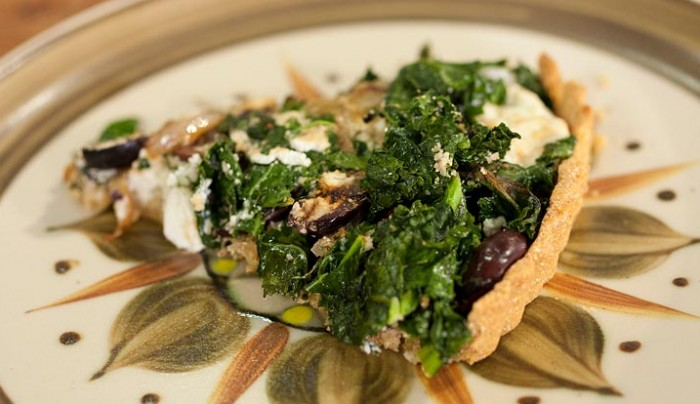 Kale, Olives and Feta Pie