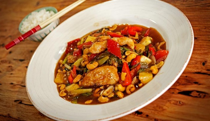 Sweet & Sour Chicken with Cashews