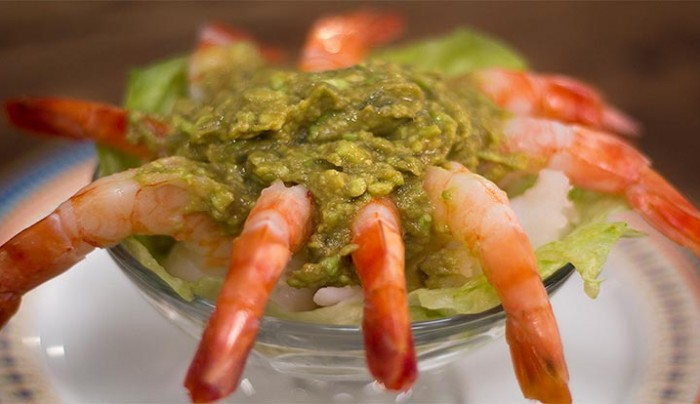 Prawns Cocktail with Avocado Cocktail Sauce