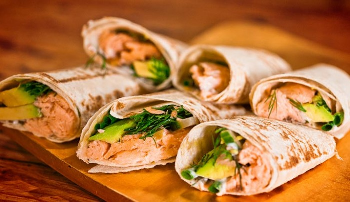 Mountain Bread Wrap with Trout and Tartare
