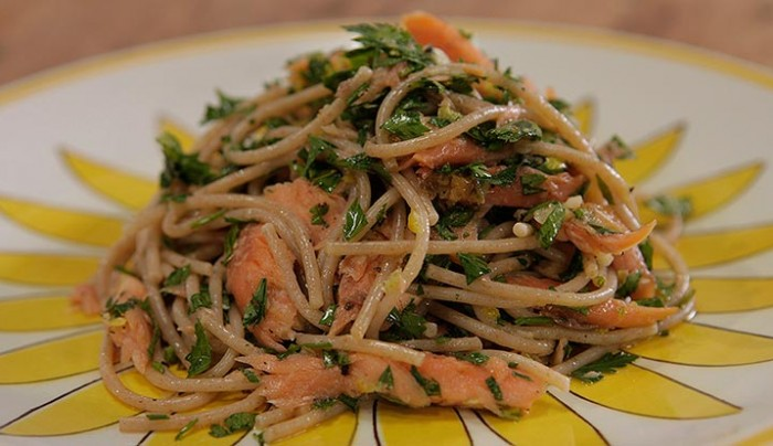 Smoked Trout and Lemon Zest Spelt Pasta