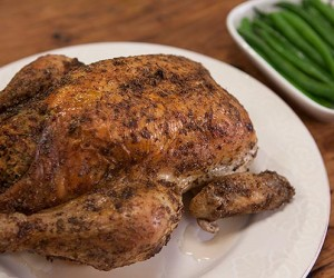 Lemon Myrtle Roast Chicken with Bush Lime Stuffing