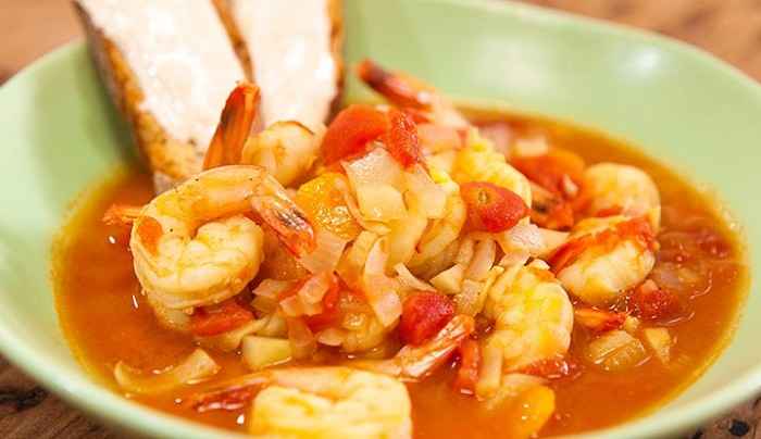 French Prawn Stew with Yoghurt Rouille