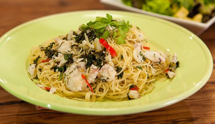 Crab, Lime and Chilli Angel Hair Pasta