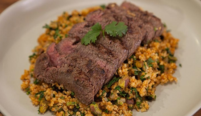 Lamb Back Strap with African Millet Salad