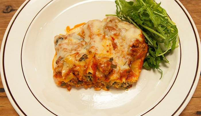 Cannelloni Stuffed with meat & Ricotta Cheese