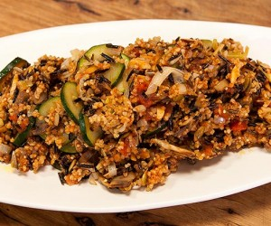 Wild Rice, Millet and Almonds Pilaf