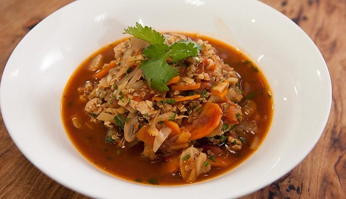 Spicy Turkey, Quinoa and Vegetable Soup