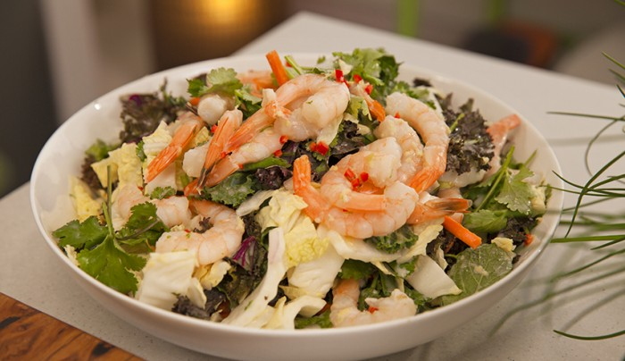 Asian-Style Prawn Coleslaw with Lime Coconut Dressing