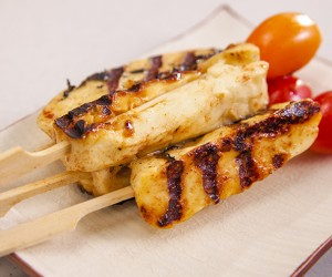 Lime and Honey Haloumi Skewers