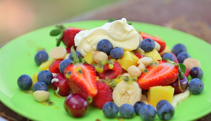 Tropical Fruit Salad with Blueberries